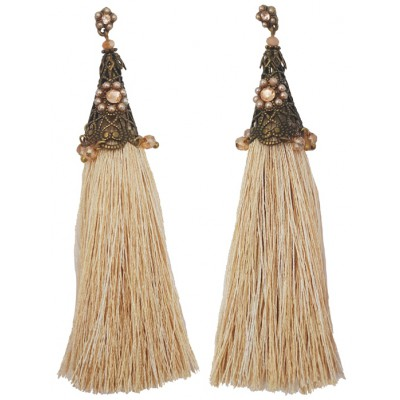Michal Negrin Wheat Tassels Earrings