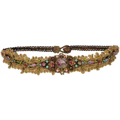 Michal Negrin Floral Cameo Lace Headband