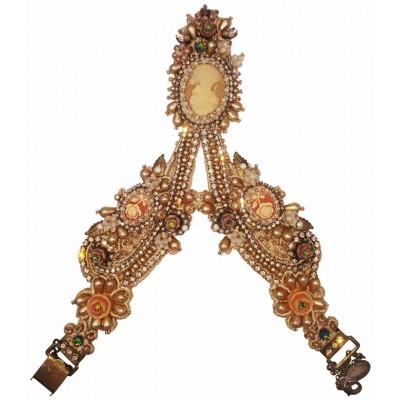 Michal Negrin Victorian Cameo Lace Slave Bracelet