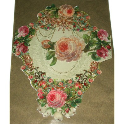 Michal Negrin Victorian Roses Greeting Card