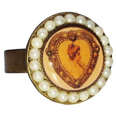 Michal Negrin Pearl Woman Cameo Ring
