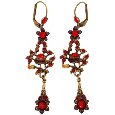 Michal Negrin Red Gypsy Rose Earrings