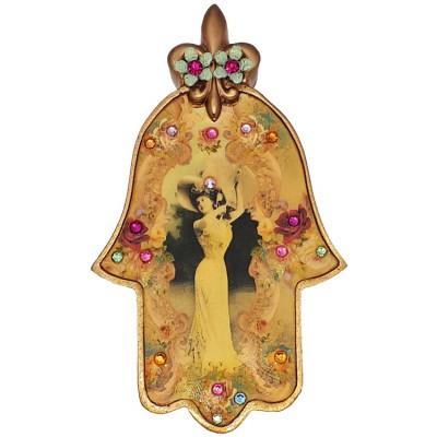 Michal Negrin Victorian Lady Wall Hamsa