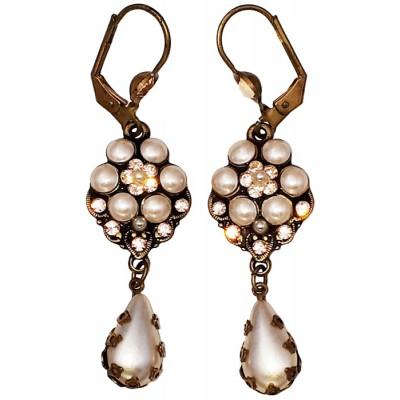 Michal Negrin Pearl Peach Drop Earrings