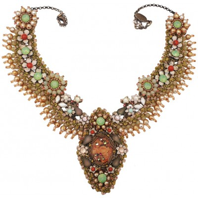 Michal Negrin Very Vintage Lace Necklace