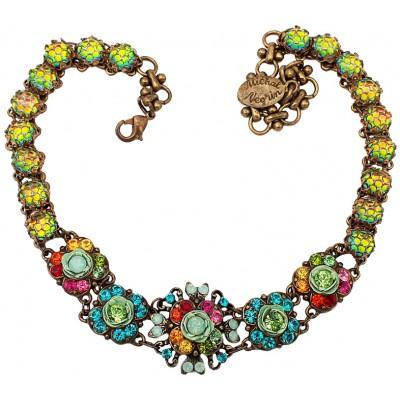 Michal Negrin Multicolor Crystals Choker Necklace