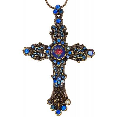 Michal Negrin Blue Cross Necklace