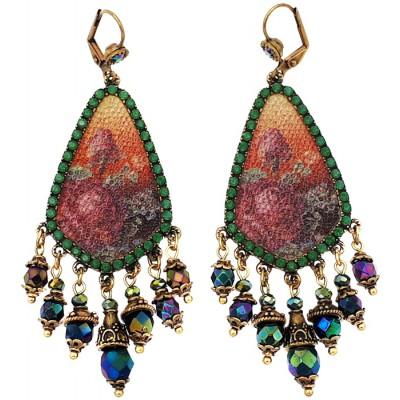 Michal Negrin Grainy Roses Earrings