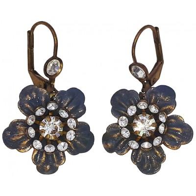 Michal Negrin Silver Anemone Earrings