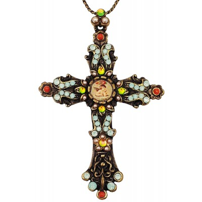 Michal Negrin Vintage Cross Necklace