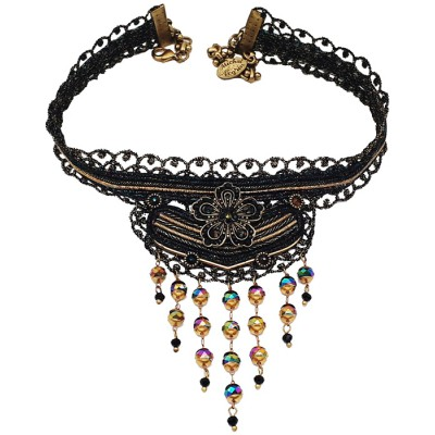 Michal Negrin Black Strand Choker Necklace