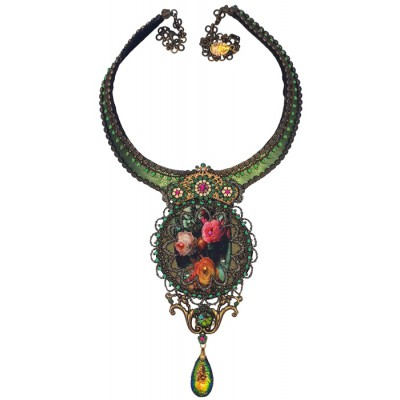 Michal Negrin Roses Printed Choker Necklace