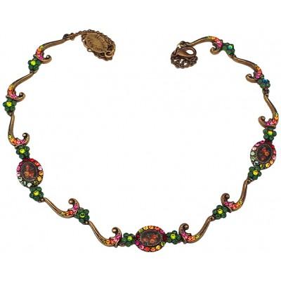 Michal Negrin Delicate Multicolor Cameos Necklace