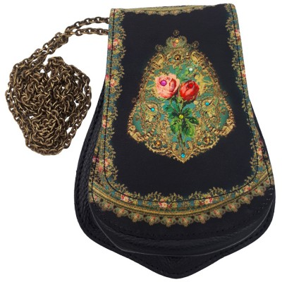 Michal Negrin Black Roses Small Pouch