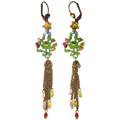 Michal Negrin Multicolor Gypsy Rose Earrings