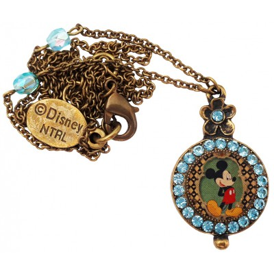 Michal Negrin Disney Mickey Mouse Round Pendant Necklace