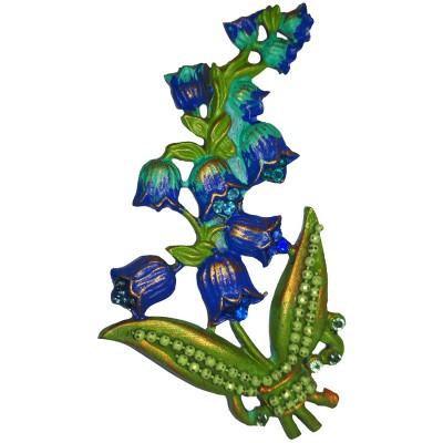 Michal Negrin Blue Hyacinth Brooch