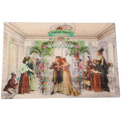 Michal Negrin Victorian Wedding Lenticular Postcard