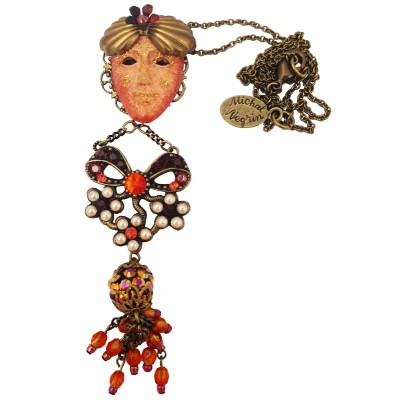 Michal Negrin Venetian Mask Necklace