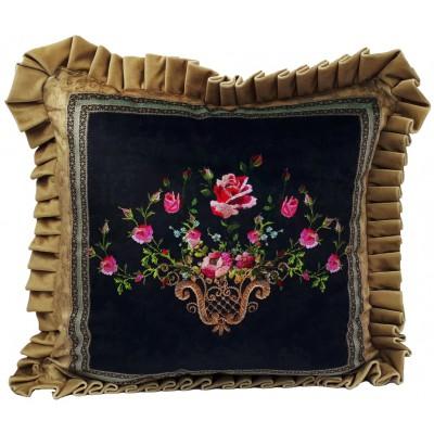 Michal Negrin Velvet Roses Cushion Cover