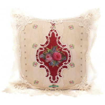 Michal Negrin Victorian Roses Lace Cushion Cover