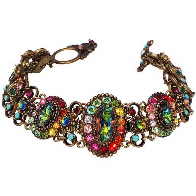Michal Negrin Multicolor Swarovski Crystals Bracelet