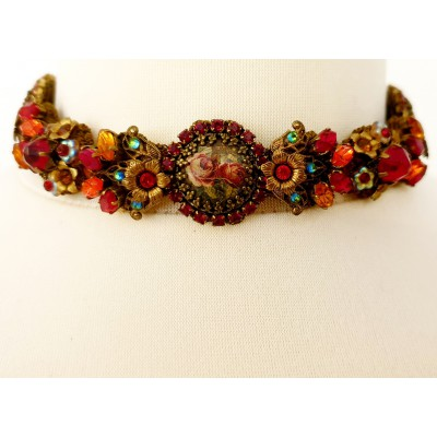 Michal Negrin Roses Sunset Lace Choker
