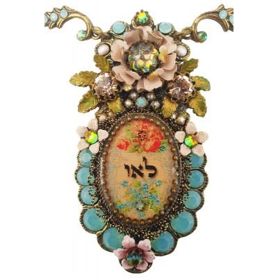 Michal Negrin Kabbalah Vintage Floral Necklace