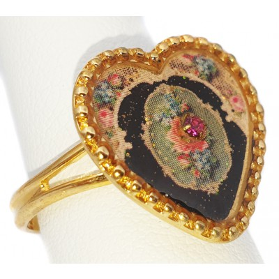Michal Negrin Glittering Heart Ring