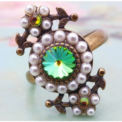 Michal Negrin Pearl Vitrail Victorian Ring
