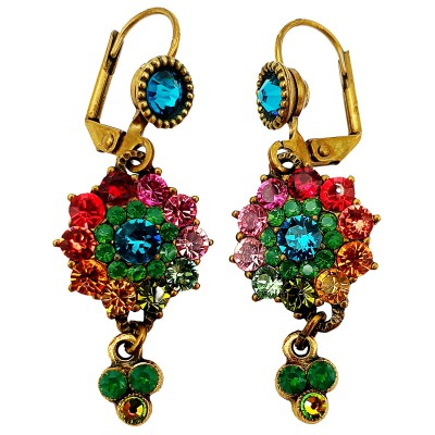 Michal Negrin Multicolor Swarovski Crystal Earrings