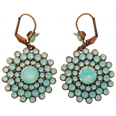 Michal Negrin Sea Green Round Earrings