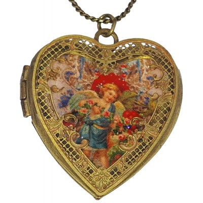 Michal Negrin Angel Heart Locket Necklace