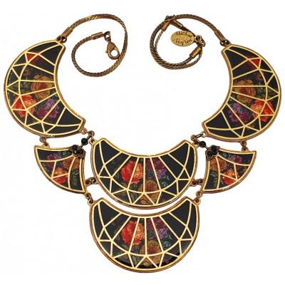 Michal Negrin Black Vitrage Inspired Necklace