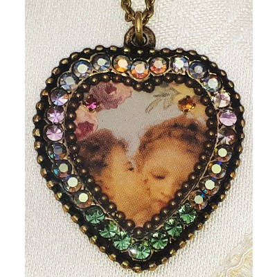 Michal Negrin Angels Kiss Crystal Heart Necklace