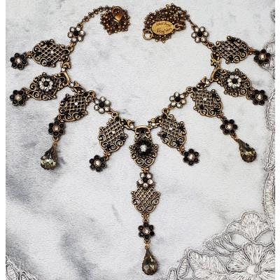 Michal Negrin Black Silver Edwardian Necklace