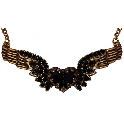 Michal Negrin Black Winged Heart Necklace