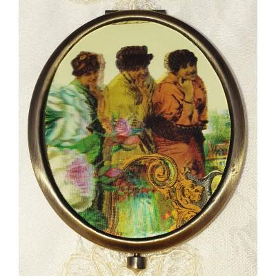 Michal Negrin Victorian Women Lenticular Compact Mirror