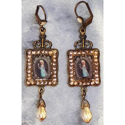 Michal Negrin X Disney Princess Gold Crystal Earrings