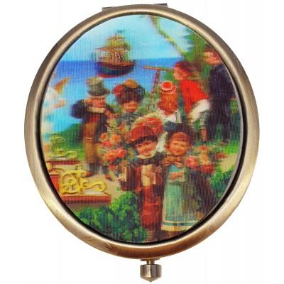 Michal Negrin Victorian Port Lenticular Compact Mirror