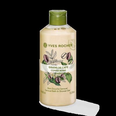 Yves Rocher coffee beans sensual Bath Shower Gel 400ml