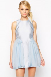 Alice McCall Playing On The Waves Aqua Short Dress