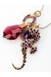 Amaro Purple Seahorse Crystals Necklace