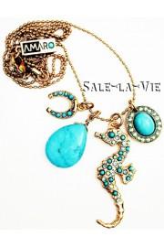 Amaro Turquoise Seahorse Necklace