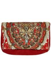 Camilla Franks Cameos Dance Embellished Suede Clutch Bag