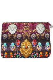 Camilla Franks Milagro Charm Large Canvas Clutch