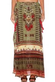 Camilla Franks Woven Prayer Silk Pocket Skirt Dress