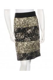 Dolce & Gabbana Black Gold Gilded Brocade Skirt