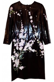 Dolce & Gabbana Floral Hand Painted PVC Dress