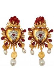Dolce & Gabbana Heart Clip On Earrings